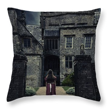 Haunted House Throw Pillow by Joana Kruse