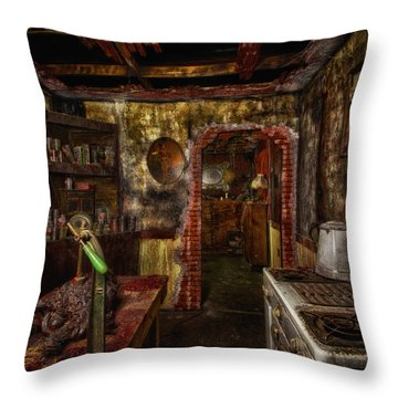 Haunted Kitchen Throw Pillow