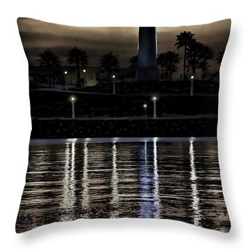 Haunted Lighthouse Throw Pillow by Mariola Bitner