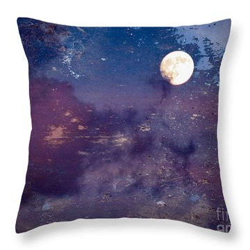 Haunted Moon Throw Pillow