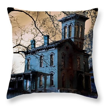 Haunted Sauer Castle Throw Pillow