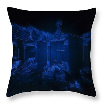 Haunted St Louis Cemetery No 3 New Orleans Throw Pillow by Christine Till