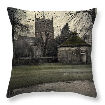 Haunted Village Throw Pillow by Svetlana Sewell