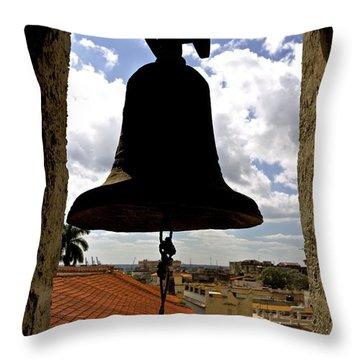 Havana Bell Tower Throw Pillow