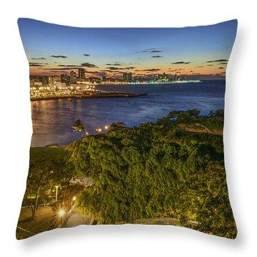 Havana Blues Throw Pillow