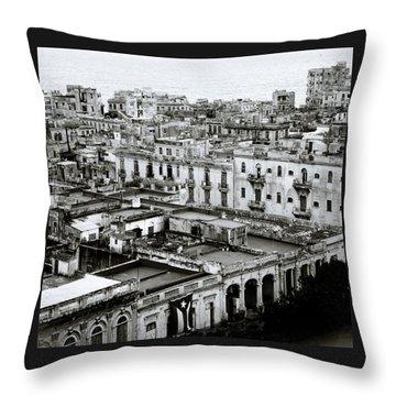 Havana City Throw Pillow by Shaun Higson