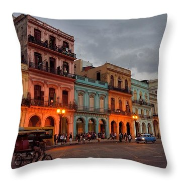Havana Nocturne Throw Pillow