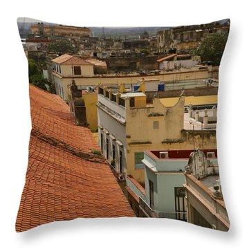 Havana Rooftops Throw Pillow