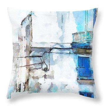 Havana Street Throw Pillow