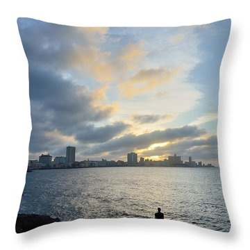 Havana Sunset Throw Pillow