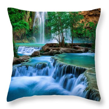 Havasu Paradise Throw Pillow by Inge Johnsson
