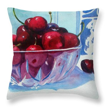 Have A Bing Cherry Go Ahead Try Em Throw Pillow