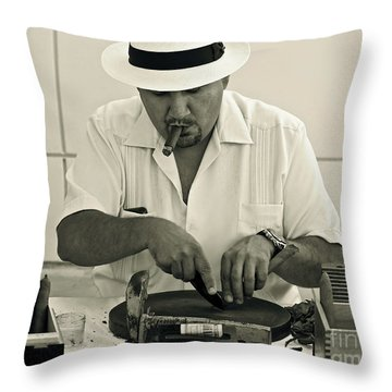 Have A Cigar Throw Pillow by Gwyn Newcombe