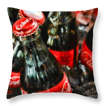 Have A Coke And Give A Smile By Diana Sainz Throw Pillow