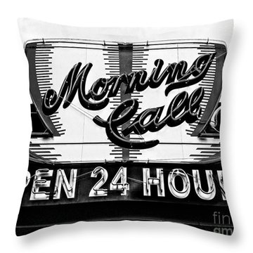 Have A Cup Of Coffee At Morning Call New Orleans Throw Pillow by Kathleen K Parker