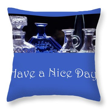 Have A Nice Day Throw Pillow by Randi Grace Nilsberg