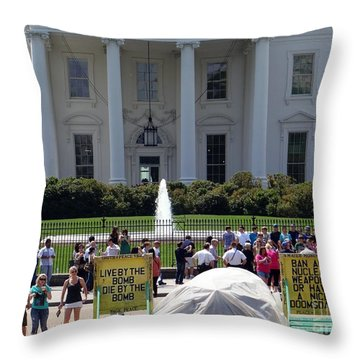 Throw Pillow featuring the photograph Have A Nice Doomsday by Ed Weidman