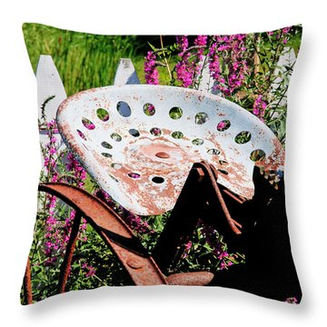 Have A Seat Throw Pillow by Heather Allen