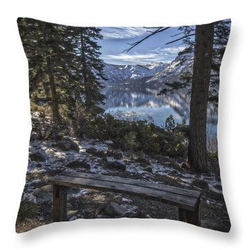 Throw Pillow featuring the photograph Have A Seat by Mitch Shindelbower