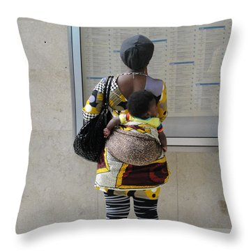 Throw Pillow featuring the photograph Have Baby Will Travel by Natalie Ortiz