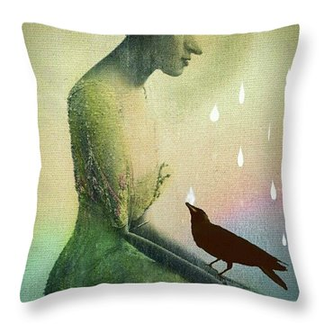 have I seen you here before? Throw Pillow