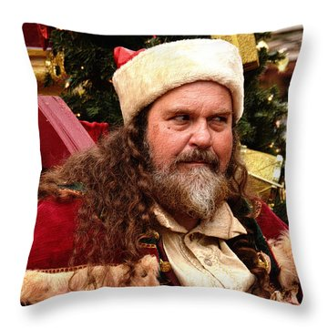 Have You Been Naughty Throw Pillow