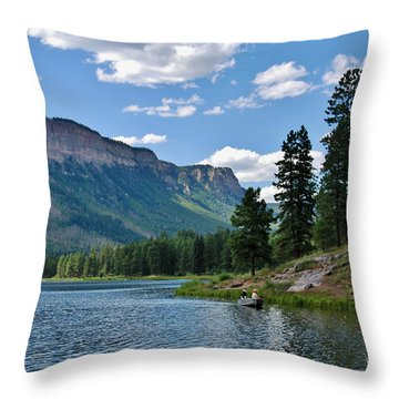 Throw Pillow featuring the photograph Haviland Lake by Janice Rae Pariza