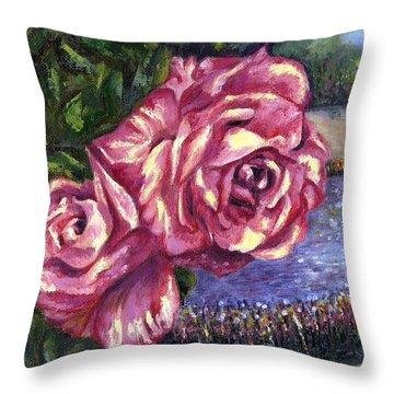 Having A Greattime Throw Pillow by Harsh Malik