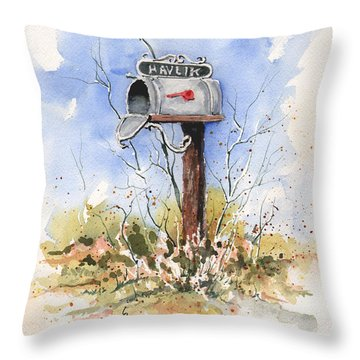 Havlik's Mailbox Throw Pillow