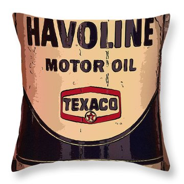 Havoline Motor Oil Can Throw Pillow