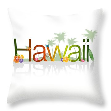 Hawaii Throw Pillow by Aged Pixel