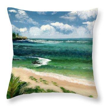Hawaii Beach Throw Pillow