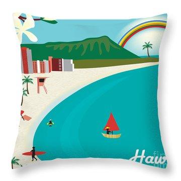 Hawaii Throw Pillow by Karen Young