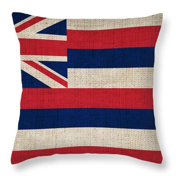 Hawaii State Flag  Throw Pillow by Pixel Chimp