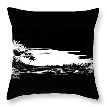Throw Pillow featuring the digital art Hawaiian Night by Anthony Fishburne