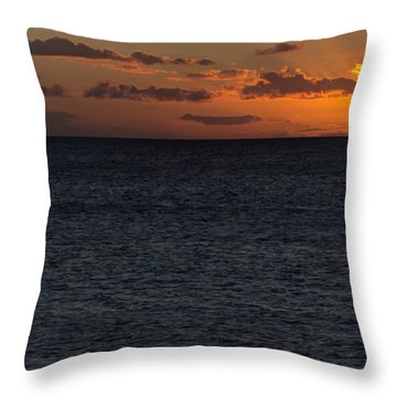 Throw Pillow featuring the photograph Hawaiian Nights  by Heidi Smith