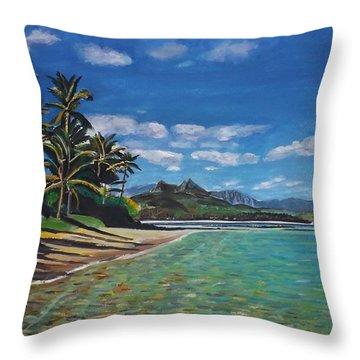Hawaiian Paradise Throw Pillow by Richard Nowak