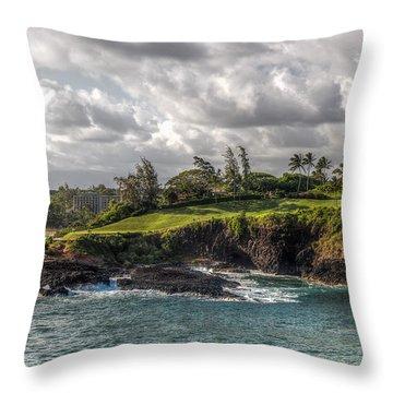 Hawaiian Shores Throw Pillow by Bill Lindsay