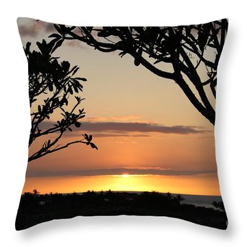 Hawaiian Sunset All Profit Go To Hospice Of The Calumet Area Throw Pillow