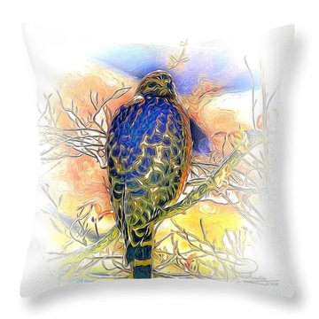 Hawk 2 Throw Pillow