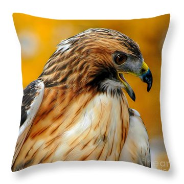 Hawk Hunt Throw Pillow