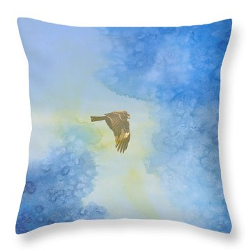 Hawk In Flight 2 Throw Pillow