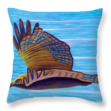Hawk Speed Throw Pillow by Brian  Commerford