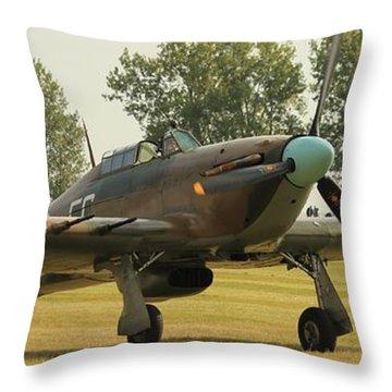 Hawker Hurricane Taxing Throw Pillow