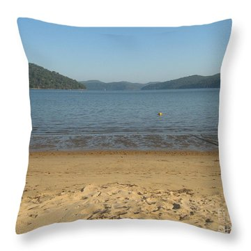 Throw Pillow featuring the photograph Hawksbury River From Dangar Island by Leanne Seymour