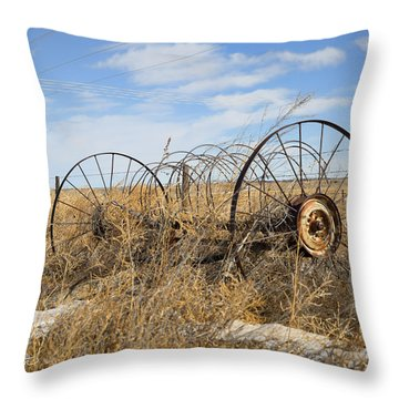 Throw Pillow featuring the photograph Hay Day by Sylvia Thornton