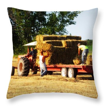 Hay Haulers Throw Pillow