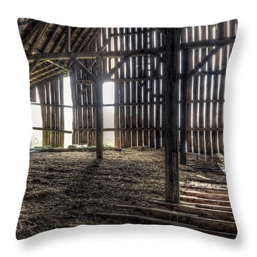Old Building Throw Pillows