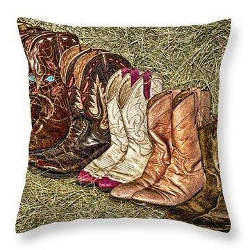 Boot Stomp Throw Pillow
