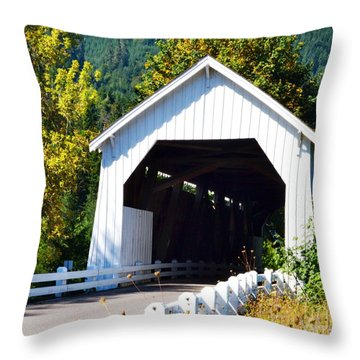 Hayden Covered Bridge Throw Pillow